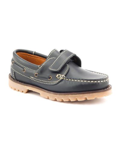 Boni Marc - chaussure basse garcon en cuir à scratch