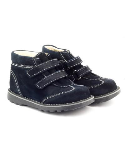boots enfant en cuir bleu marine boni clovis. Black Bedroom Furniture Sets. Home Design Ideas